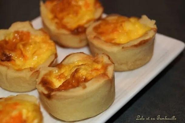 Quichettes au chorizo & parmesan