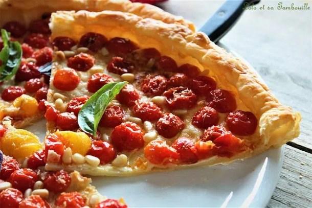 Tarte fine aux tomates cerises & parmesan