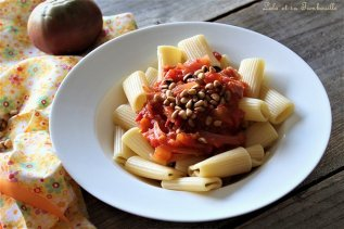 Compotée de tomates au bacon & pignons de pin (1)