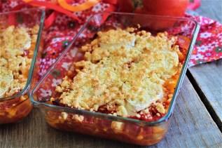 Crumble de tomates chèvre & miel (1)