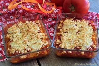 Crumble de tomates chèvre & miel (3)