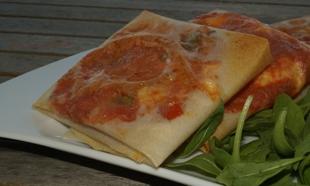 Croustillants de tomates & mozzarella
