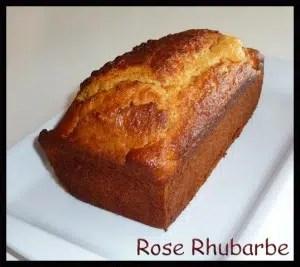 cake à la confiture de lait et ricotta rose rhubarbe temperance