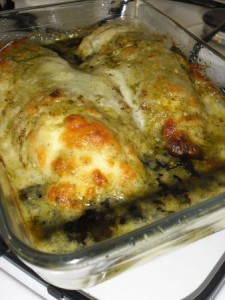 poulet au pesto et à la mozzarella karine