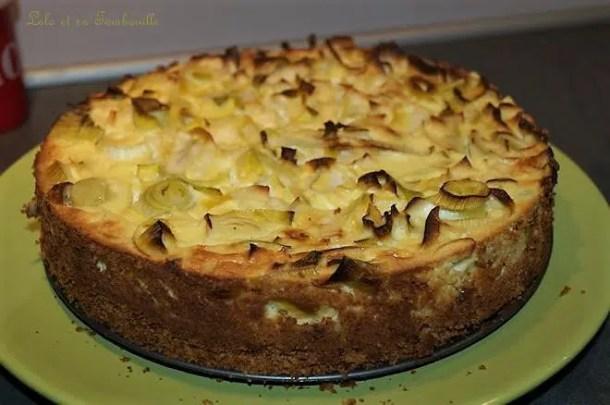 Cheesecake aux poireaux & chèvre frais