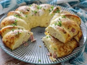 Clafoutis de pâtes au jambon & emmental (1)