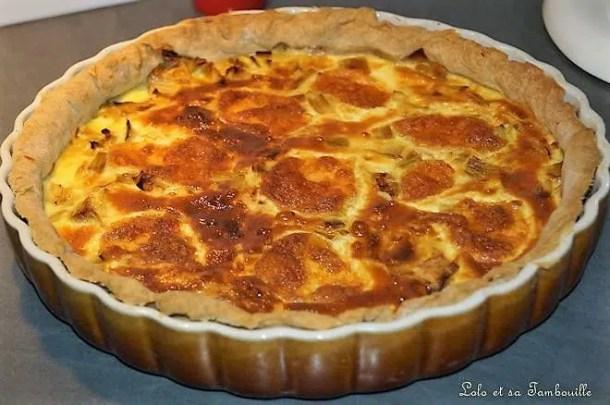 Tarte aux poireaux, mozzarella & moutarde French's Honey
