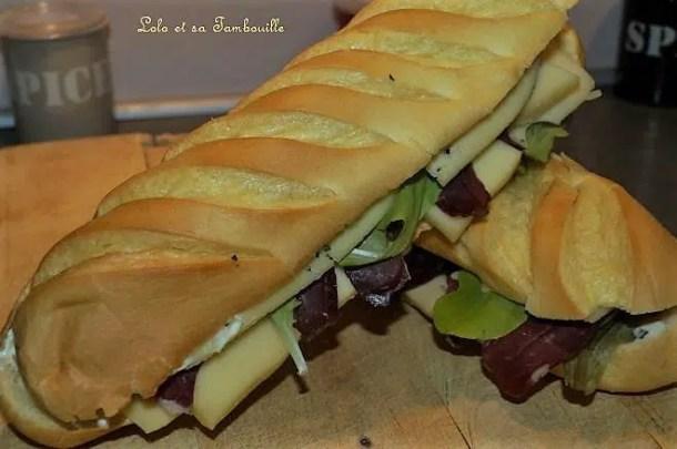 Sandwich au morbier & magret