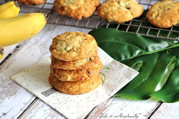 Cookies à la banane & chocolat
