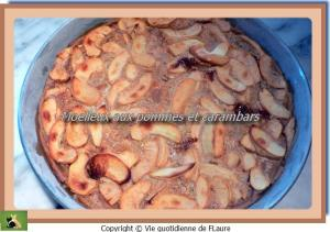 clafoutis pommes et carambars Flaure