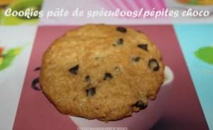 cookies pâte de spéculoos pépites de chocolat Yas