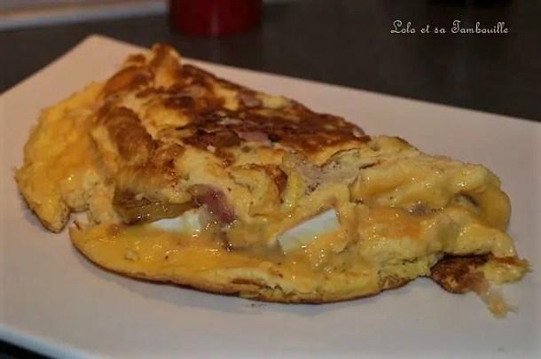 Omelette au chèvre & pomme de terre