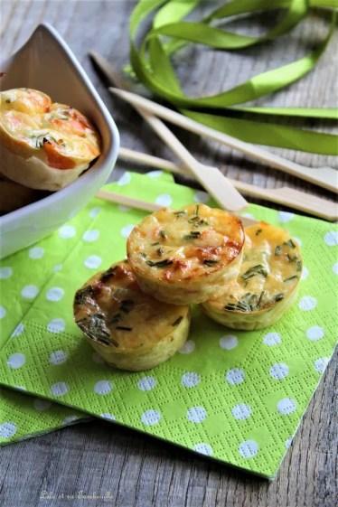Quichettes sans pâte au saumon fumé & ciboulette (2)