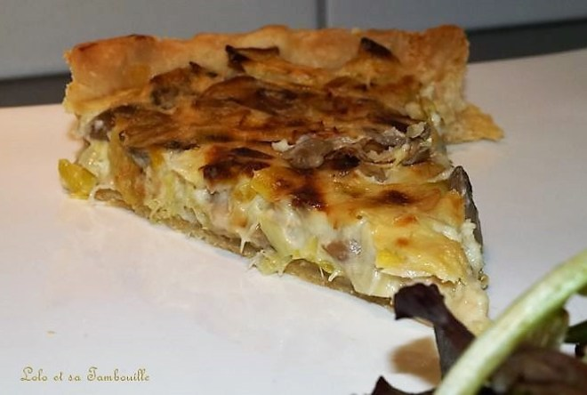 Tarte au thon et champignons {recette allégée} (5)