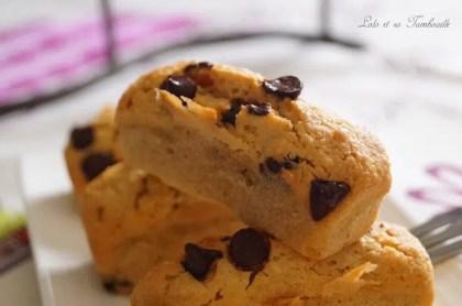 Douceurs au beurre de cachuètes & pépites de chocolat {comme des financiers} (5)