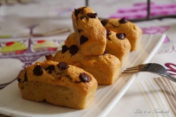 Douceurs au beurre de cacahuètes & pépites de chocolat {façon financiers}