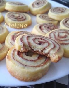 Biscuits roulés au nutella Matina