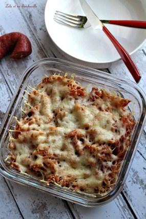 Gratin de pâtes au chorizo & pesto rosso (2)