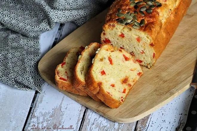 Cake au chorizo & poivron