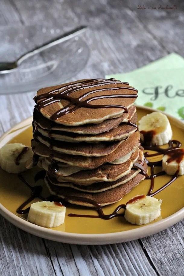 Pancakes à la banane & vanille