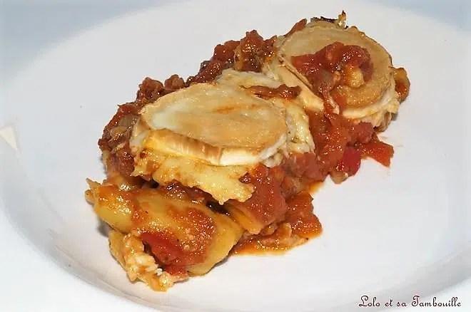 Cannellonis de bœuf, sauce tomate & chèvre