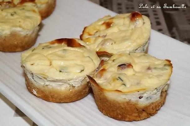 Mini cheesecakes aux dés de jambon