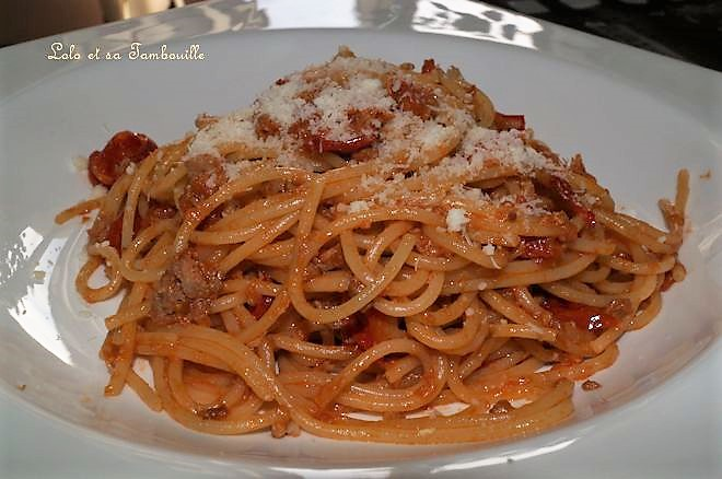 Spaghettis au ketchup