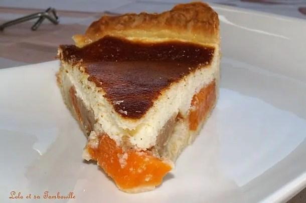 Tarte à la faisselle, abricots & spéculoos