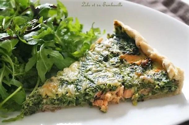 Tarte saumon & épinards