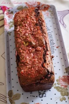 Cake au chocolat & pralines roses (4)