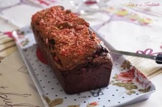 Cake au chocolat & pralines roses (5)