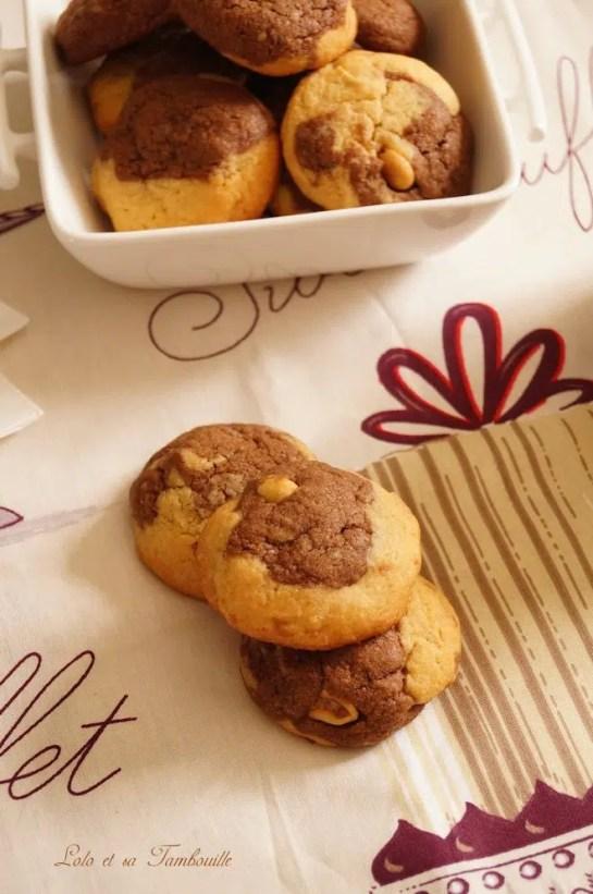 Cookies marbrés au beurre de cacahuètes