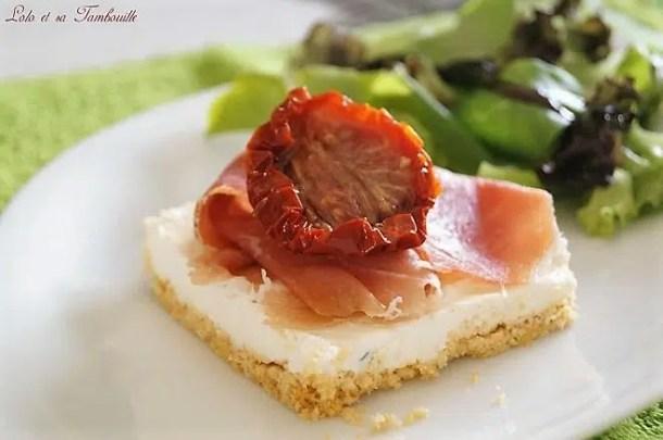 Cheesecakes au chèvre frais & Serrano