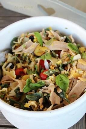 Salade de pâtes courgettes