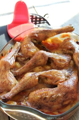 Cuisses de poulet rôties aux légumes (6)