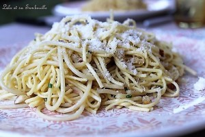 Spaghettis aux anchois frais