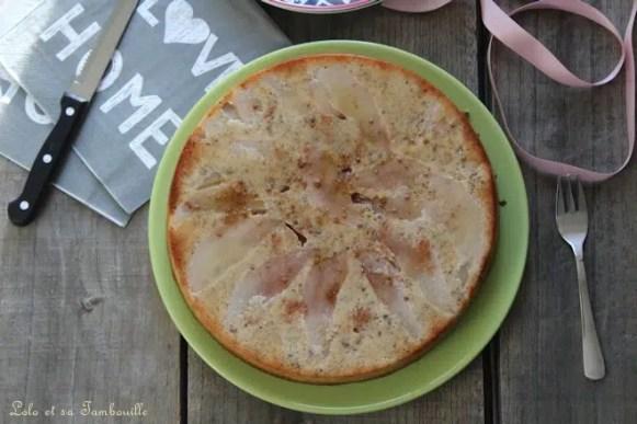 Gâteau aux poires & noisettes