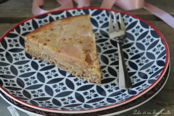 Gâteau aux poires & noisettes {au lait ribot}