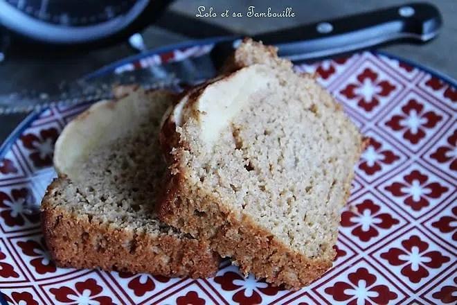 Cake à la compote & pomme {sans beurre}