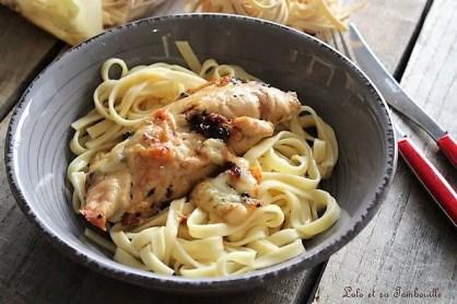 Saltimboca de poulet {pesto, mozzarella & tomates confites} (2)