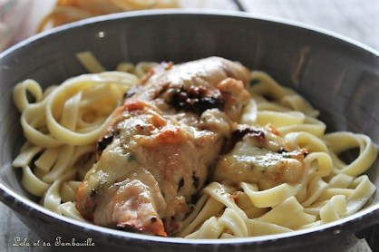 Saltimboca de poulet {pesto, mozzarella & tomates confites} (5)