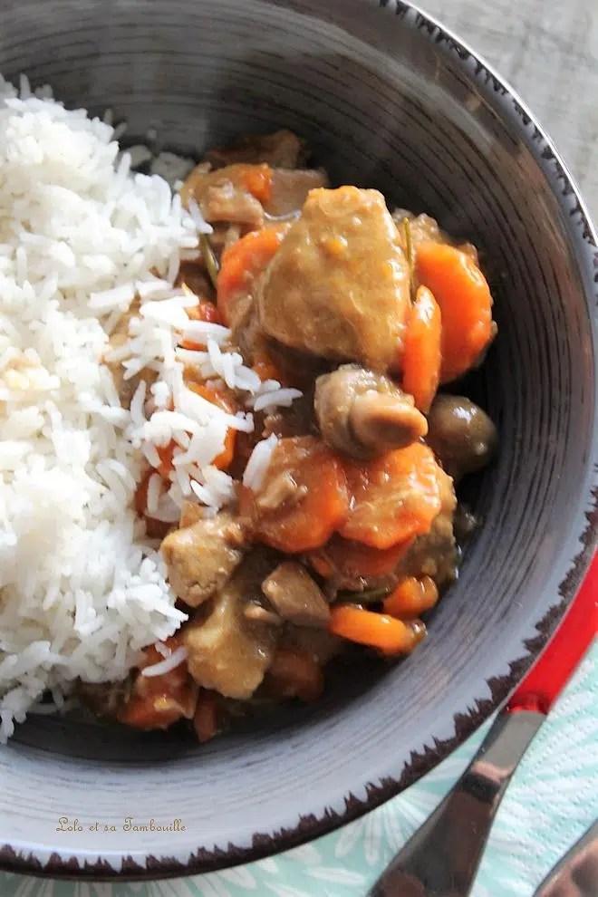Sauté de veau aux champignons & carottes