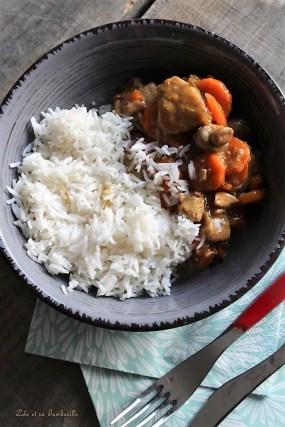 Sauté de veau aux champignons & carottes (4)