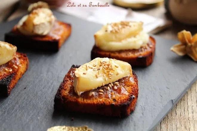 Toasts de pain d'épices & chèvre