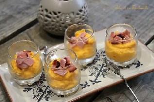 Verrines de butternut & bacon (2)