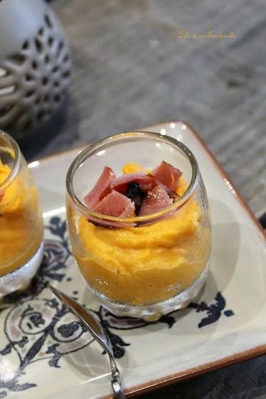 Verrines de butternut & bacon (3)