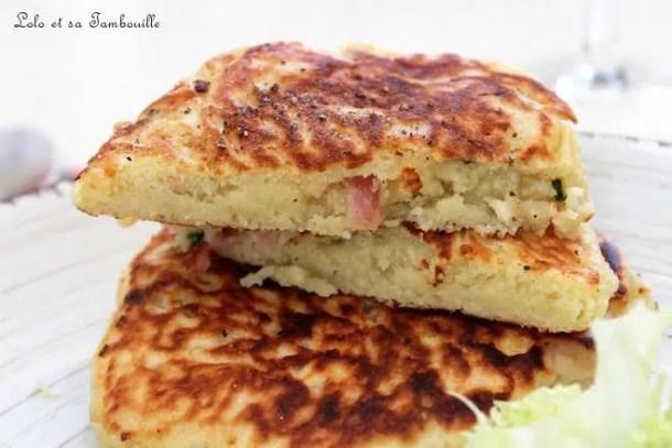 Pancakes salés au lait ribot {bacon & comté}