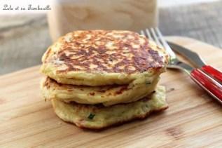Pancakes au lait ribot {bacon & comté] (4)