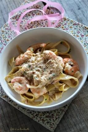 Tagliatelles aux truffes & crevettes (6)