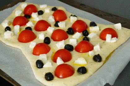 Foccacia tomates cerise & mozzarella (2)